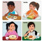 C37: Tuzzles Multicultural Meals Puzzles ( Set of 4)