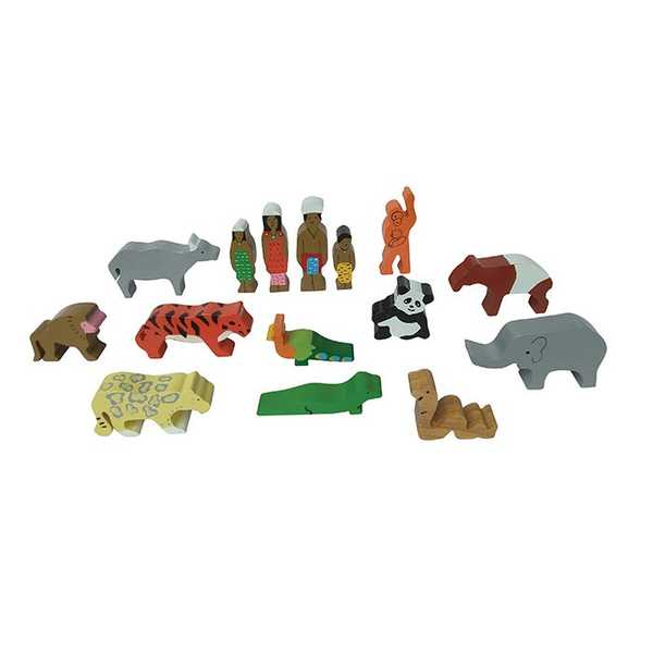 F30: Asian Wilderness wooden animal set