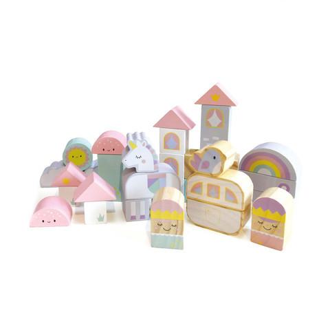 B70: Fairy Castle Wooden Block Set