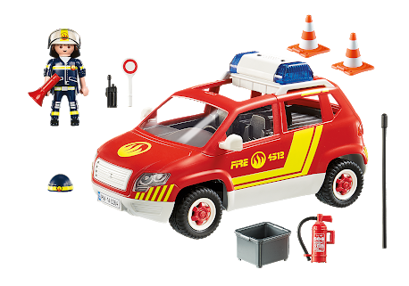 G111: Playmobil Fire Chief Car