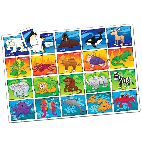 C122: Jumbo Animal Floor Puzzle