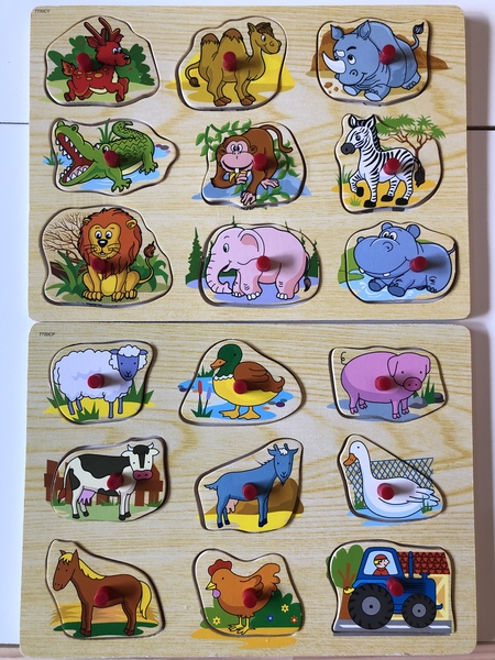 C191: Zoo/ Farm Animal peg puzzles