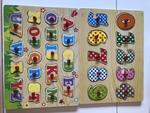 C200: Alphabet / Number peg puzzles