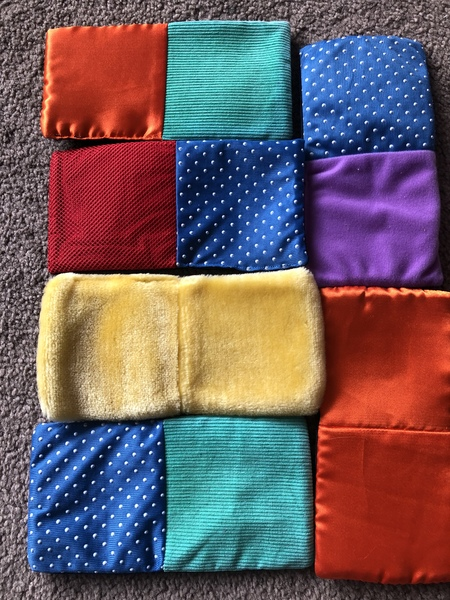 L122: Textured Fabric Dominoes