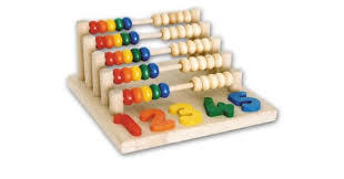 J41: Wooden rainbow abacus