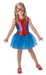 D63: Spider girl costume  SIZE 4-6