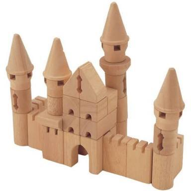 B45: Castle wooden block set