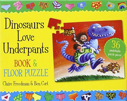 C208: Dinosaurs live underpants book and floor puzzle