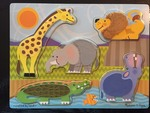 J2: Melissa & Doug Zoo Animals Touch & Feel puzzle