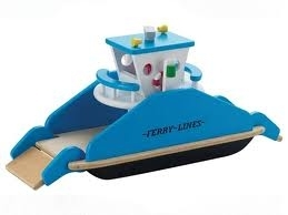107: Wooden Ferry Boat Set