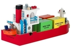 114: Wooden Container Ship Set
