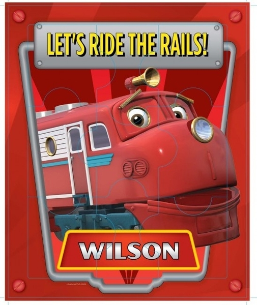 387: Wooden Chuggton Puzzle - Wilson