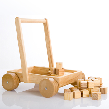 394: Wooden Block Trolley And Blocks