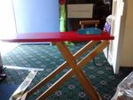 514: Wooden Ironing Board And Iron