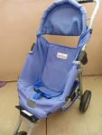 553: Baby Stroller Blue With Baby