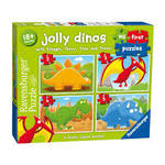 912: Jolly Dinos First Puzzle 2 3 4 5pcs