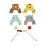 A209: Wooden Animal Croquet Set