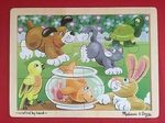 PZ243: Melissa & Doug Playful Pets 12 pc puzzle