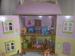 1017: Pink Wooden Dolls House
