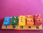 18: WOODEN NUMBER MATCH Puzzle