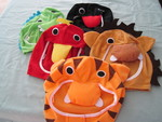 3489: Animal Hats - set of 5