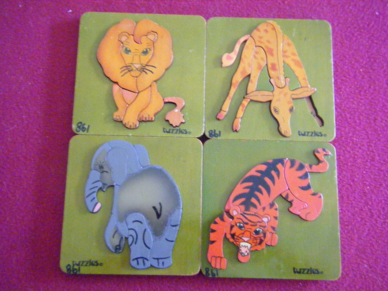 861: ANIMALS Puzzles - set of 4