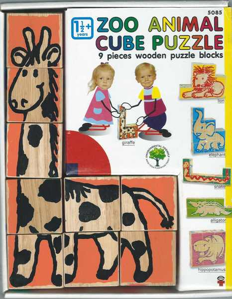 969: Puzzle: zoo animal cube puzzle