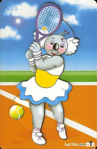 024: Tuzzle Rosie plays tennis