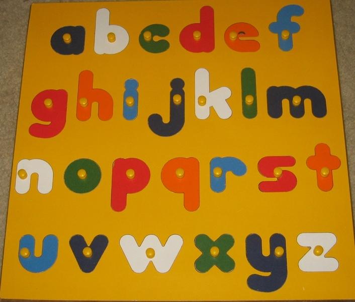 504: Large Wooden Alphabet puzzle