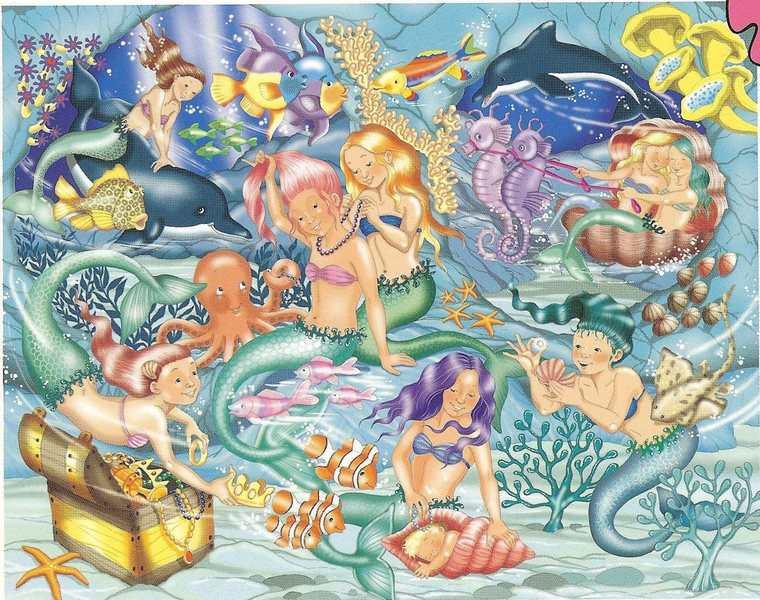 284: Foil Puzzle – mermaid