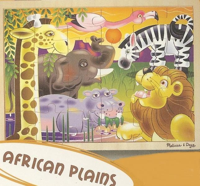 873: Puzzle: African plains