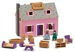 695: Wooden dollhouse