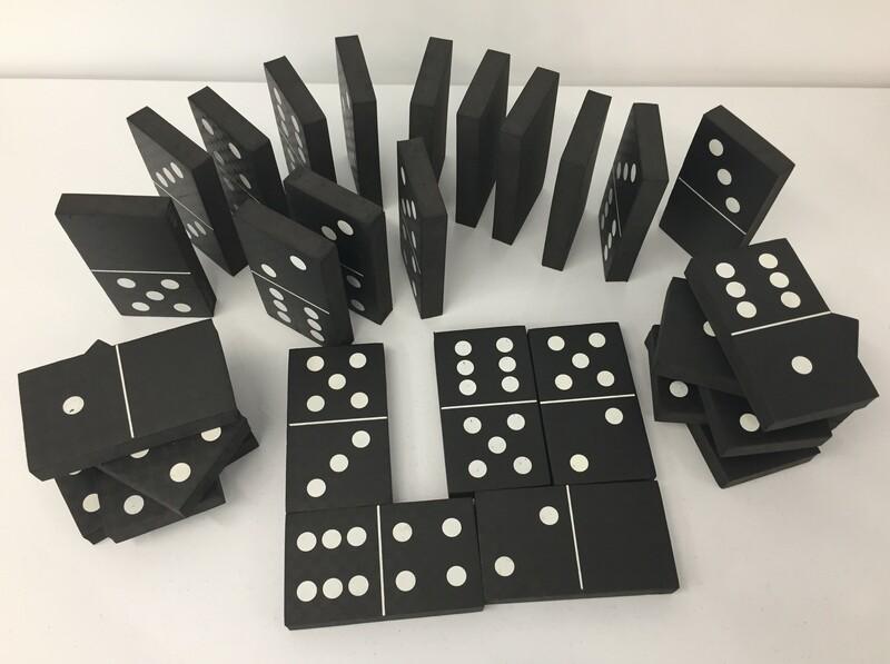 495: Jumbo black & white dominoes