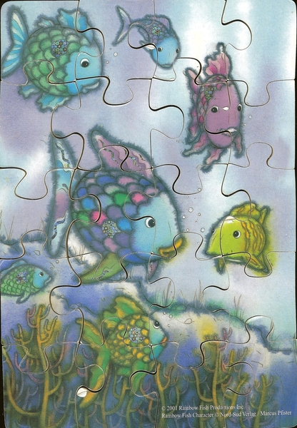 021: Rainbow Fish wooden puzzle