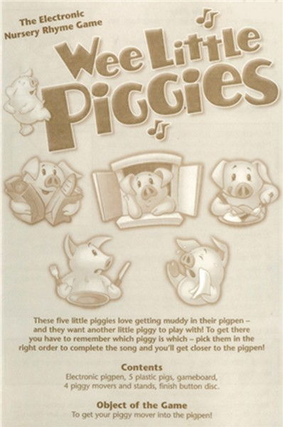 141: Wee Little Pigies Electronic Nursery Rhyme Game