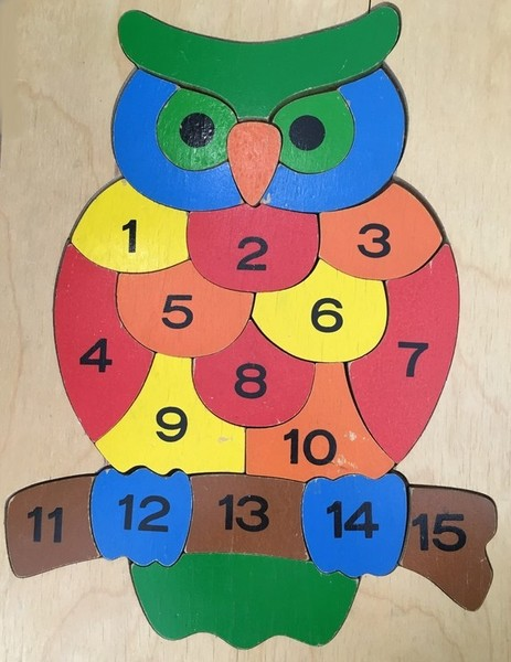 682: Owl with Numbers puzzle