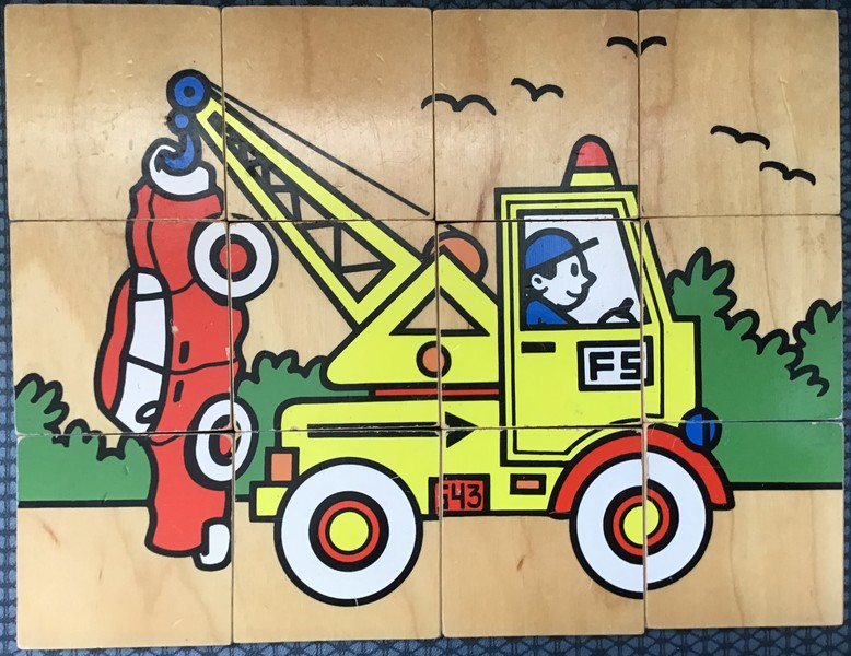 628: Vertical Tow Truck puzzle