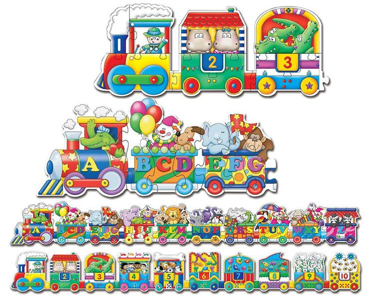 402: Giant ABC & 123 Trains Floor Puzzle