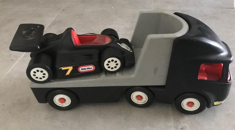862: Race Car and Trailer