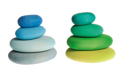 17: Blue and Green rainbow stacking stones - COMING SOON