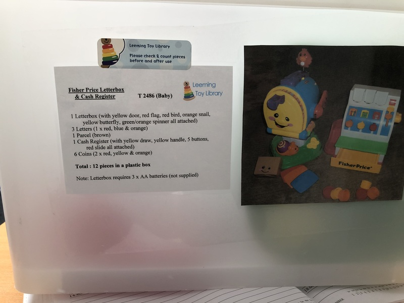2486: Fisher price letter box and cash register