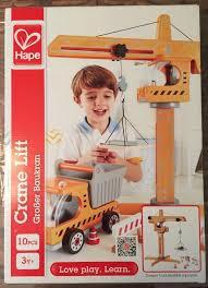 3013: Hape Crane lift and Dump truck