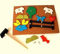 3019: Farm tap a shape hammer toy