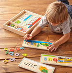 3105: Melissa & Doug: Wooden See and Spell Puzzle