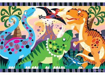 P17: Dinosaur Dawn floor puzzle