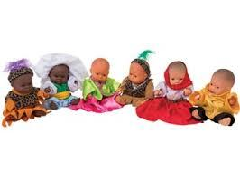 E170: Baby dolls with multicultural clothes