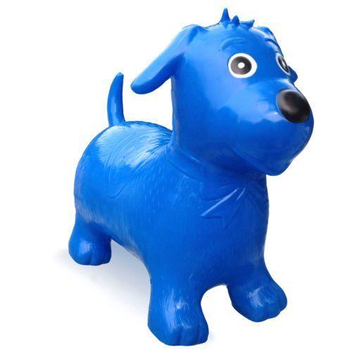 A164: Happy Hopperz Blue Dog