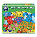 G179: One dog, Ten frogs