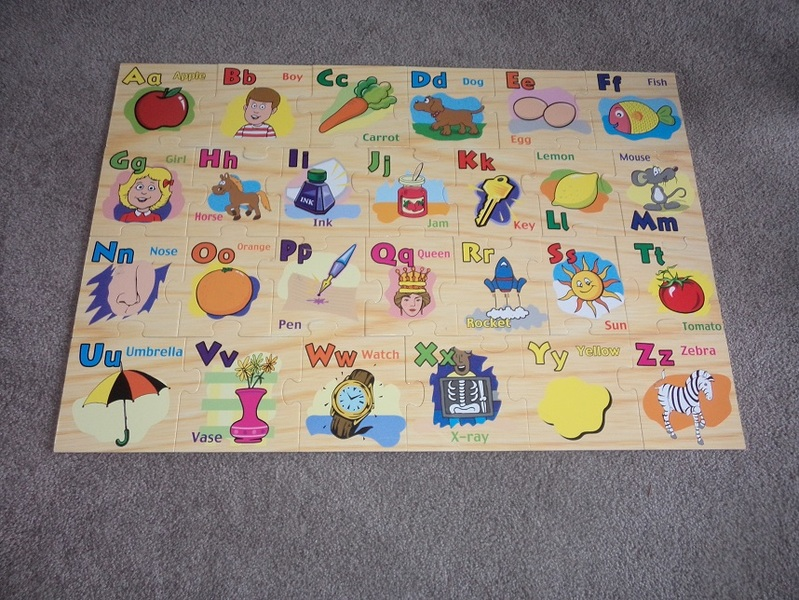 P245: Wooden alphabet floor puzzle