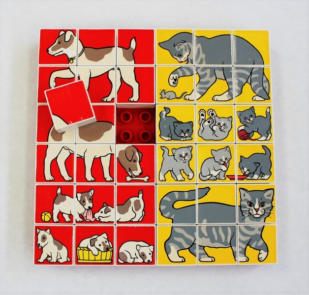 705: Animal Mosaic Cat/Dog (Duplo 1041)